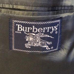 Burberry, classic men's charcoal wool suit, 46 L